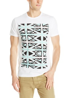 French Connection Men's Pixel Repeat Crew T-Shirt