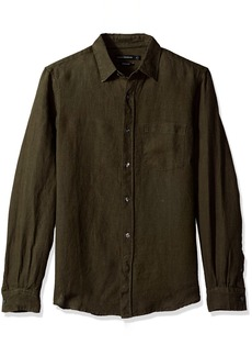 French Connection Men's Relaxed Linen Loose Shirt  L