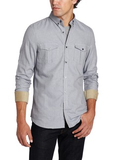French Connection Men's Repton Dog Tooth Button Down Shirt