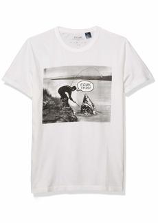 French Connection Men's Short Sleeve Crew Neck FCUK Slogan T-Shirt  XXL