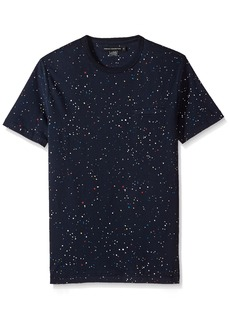 French Connection Men's Short Sleeve Crew Neck Printed Cotton T-Shirt  L