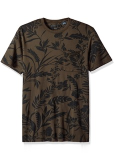 French Connection Men's Short Sleeve Crew Neck Printed Cotton T-Shirt  S