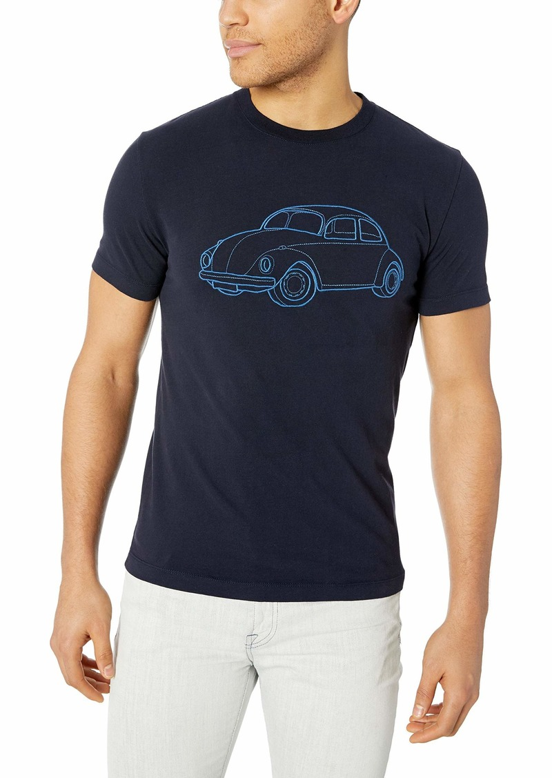 French Connection Men's Short Sleeve Crew Neck Regular Fit Graphic T-Shirt  L