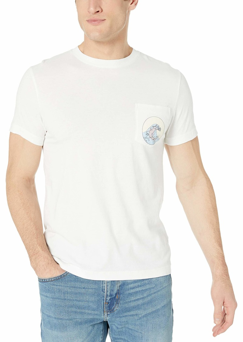 French Connection Men's Short Sleeve Crew Neck Regular Fit Graphic T-Shirt  M