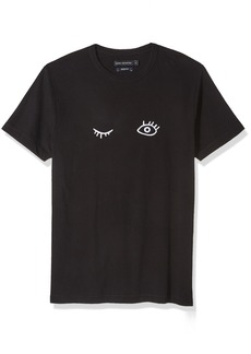 French Connection Men's Short Sleeve Crew Neck Regular Fit Graphic T-Shirt  XL