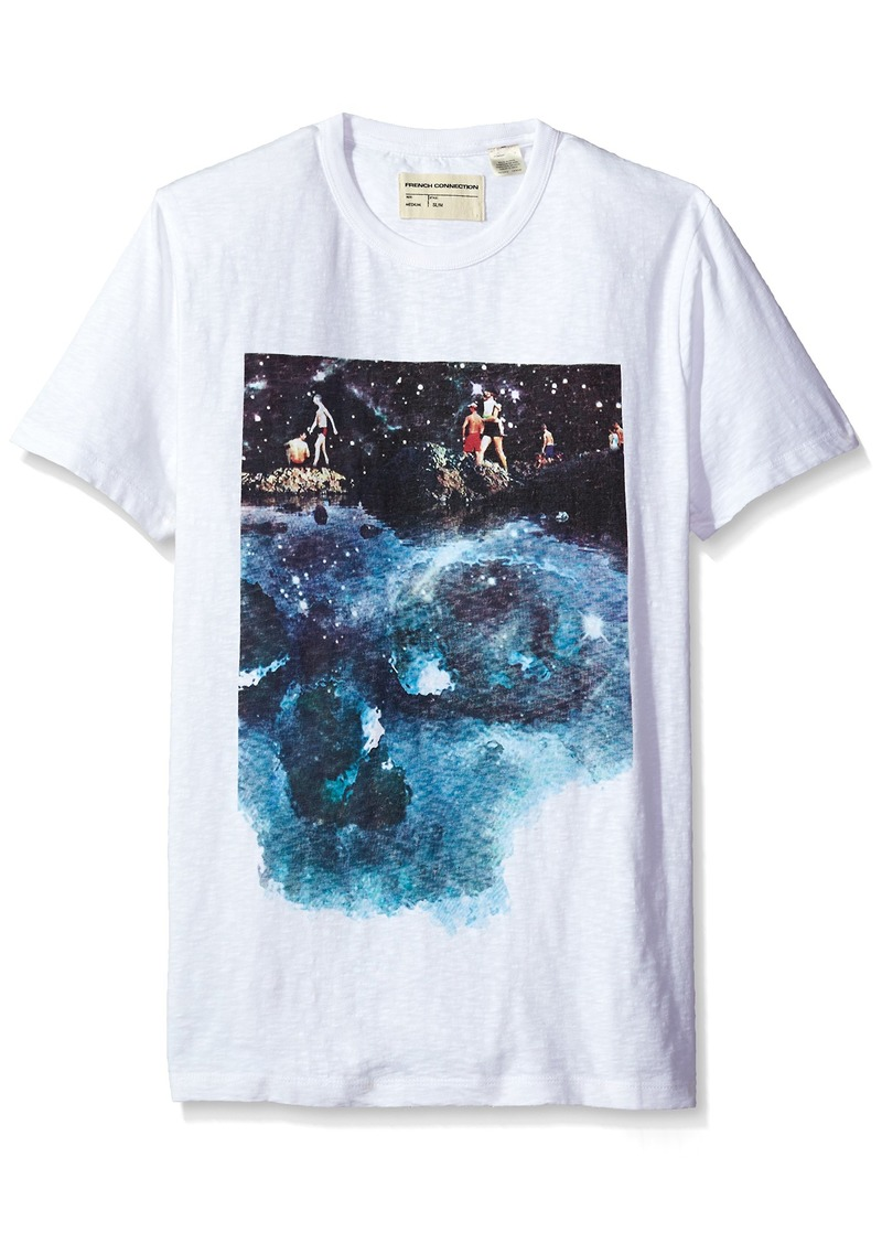 French Connection Men's Short Sleeve Crew Neck Slim Fit Graphic T-Shirt  XXL