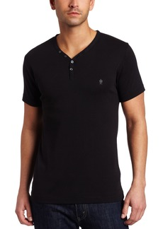 French Connection Men's Short Sleeve Henley