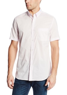French Connection Men's Short Sleeve Operation Horizontal Woven Shirt