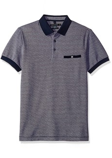 French Connection Men's Short Sleeve Regular Fit Polo with Pocket  S