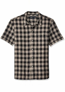 French Connection Men's Short Sleeve Slim Fit Button Down Shirt  XXL