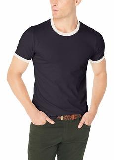 French Connection Men's Short Sleeve Slim Fit Solid Color Crew Neck Cotton T-Shirt  M