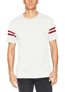French Connection Men's Short Sleeve Slim Fit Solid Color Crew Neck Cotton T-Shirt Cuba White/Ribbon red M