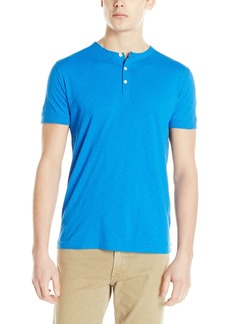 French Connection Men's Short Sleeve Slub Henley Knit