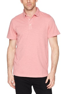French Connection Men's Short Sleeve Solid Color Regular Fit Cotton Polo Shirt  L
