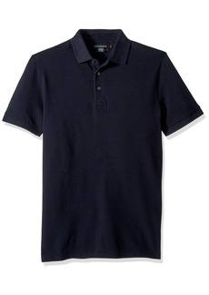 French Connection Men's Short Sleeve Solid Color Regular Fit Polo Shirt  L