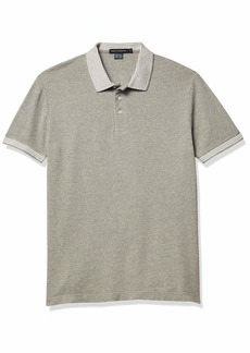 French Connection Men's Short Sleeve Solid Color Regular Fit Polo Shirt  M