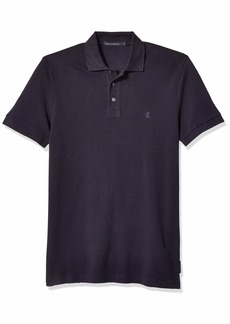 French Connection Men's Short Sleeve Solid Color Regular Fit Polo Shirt  XXL