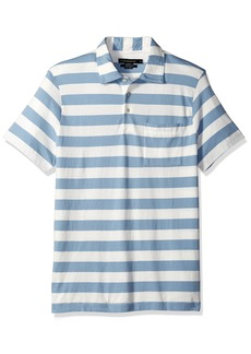 French Connection Men's Short Sleeve Stripe Cotton Polo Shirt  S