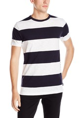 French Connection Men's Short Sleeve Stripe Crew Neck T-Shirt