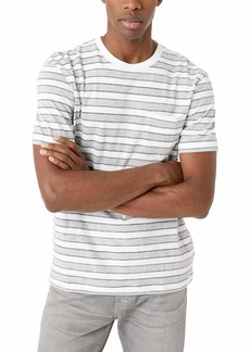 French Connection Men's Short Sleeve Striped Crew Neck Cotton T-Shirt  XXL
