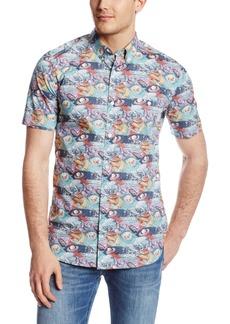 French Connection Men's Space Gaze Cotton Woven Shirt