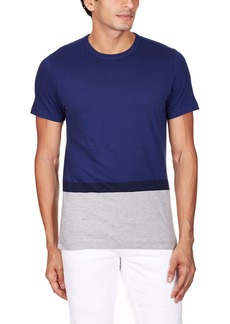 French Connection Men's Stockwood Engineered Stripe Short Sleeve T-Shirt