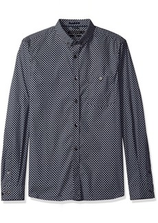 French Connection Men's Stretch Paisley Shirt  L