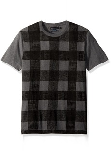 French Connection Men's Texas Check T Shirt  M