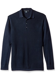 French Connection Men's Textured Knit Polo  L
