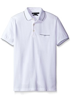 French Connection Men's Short Sleeve Solid Color Slim Fit Polo Shirt  L