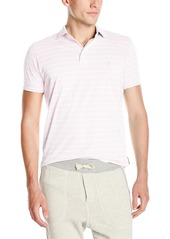 French Connection Men's Trailer Stripe Polo Shirt with Pop Under-Collar