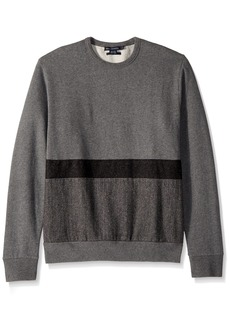 French Connection Men's Tweed Applique Striped Sweatshirt  L