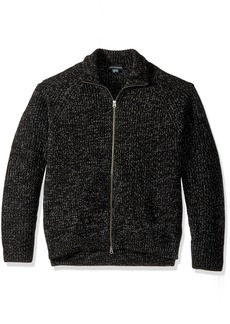 French Connection Men's Twisted Rib Zip Up Sweater  L