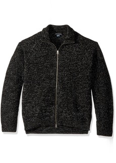 French Connection Men's Twisted Rib Zip Up Sweater  M