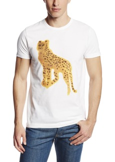 French Connection Men's Watercolor Cheetah Tee