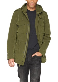 French Connection Men's Wax Sanded Military Green Jacket  L