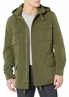 French Connection Men's Wax Sanded Military Jacket  L