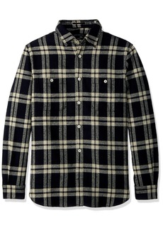 French Connection Men's Yarn Dyed Twill Overcheck Button Down Shirt  S
