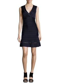 French Connection Mesh-Inset Bandage Dress