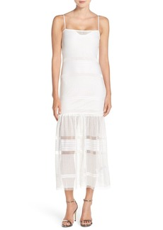 French Connection Mesh Trumpet Dress
