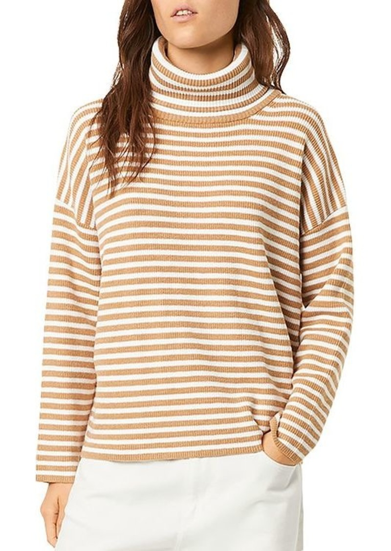 FRENCH CONNECTION Micro Stripe Turtleneck Sweater