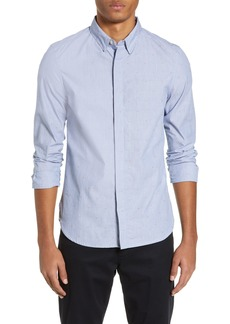 French Connection Microstripe Slim Fit Shirt