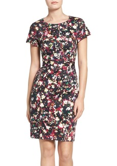 French Connection Midnight Bloom Stretch Cotton Sheath Dress