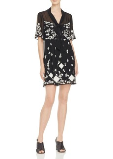 FRENCH CONNECTION Midnight Garden Embroidered Dress
