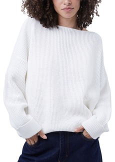 French Connection Millie Mozart Cotton Waffle-Knit Sweater