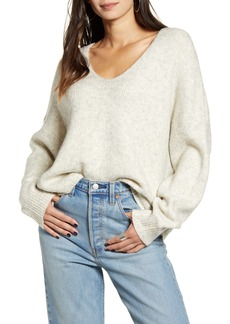 French Connection Millie Ribbed V-Neck Sweater