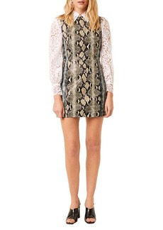 French Connection Mixed-Reptile Print Sundae Dress