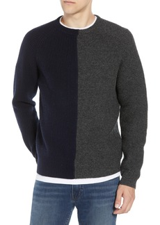 French Connection Mixed Texture Wool Blend Sweater