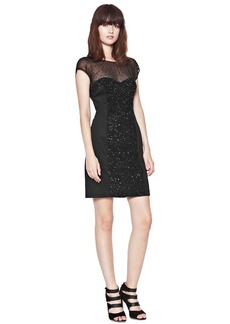 French Connection Moondust Sequinned Cap Sleeve Dress