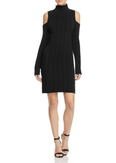 FRENCH CONNECTION Mozart Ladder Cold-Shoulder Dress